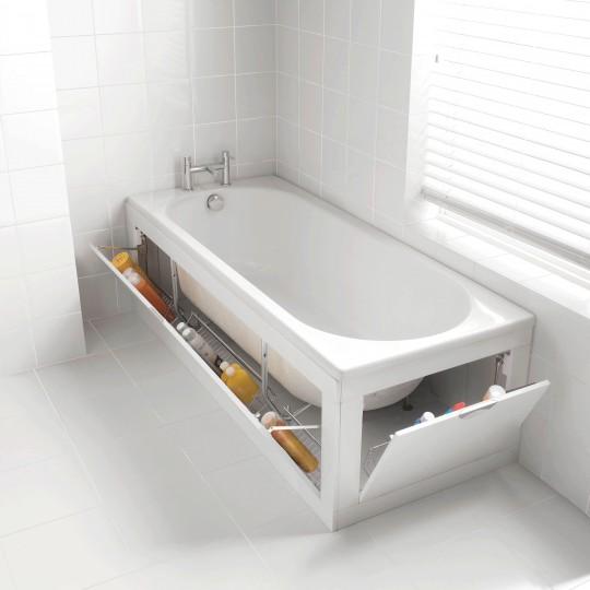 baignoire avec rangement