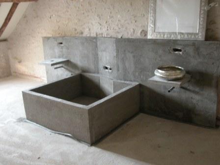 baignoire beton