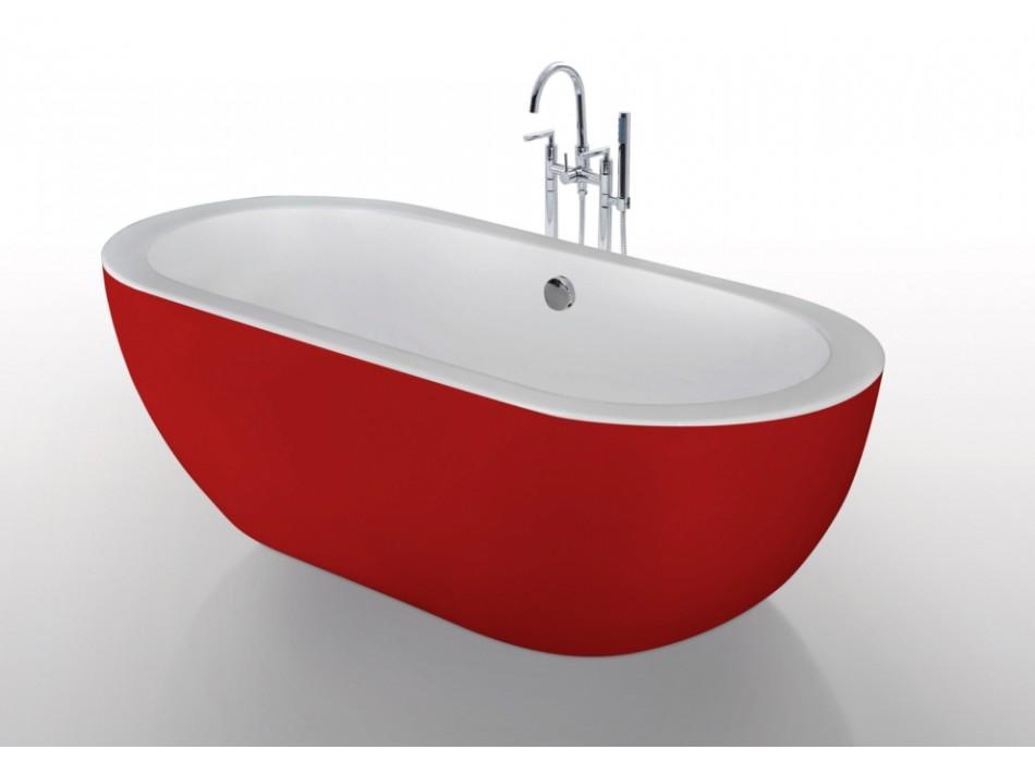 baignoire de couleur