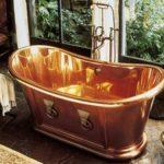 Baignoire en cuivre