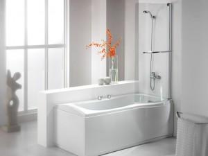 douche dans baignoire