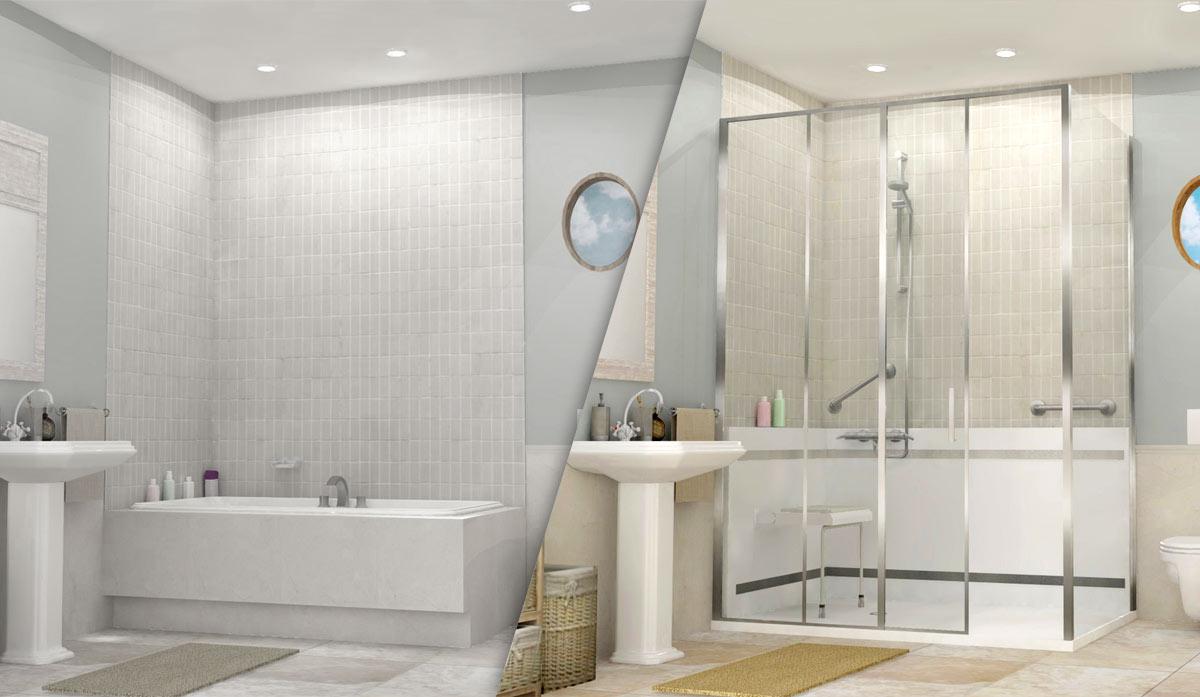 remplacer baignoire par douche italienne