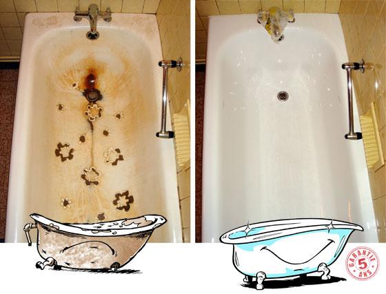 rénovation baignoire émail