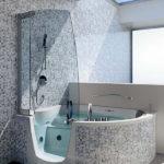 Salle de bain avec baignoire d angle