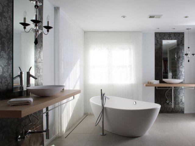 salle de bain baignoire ilot