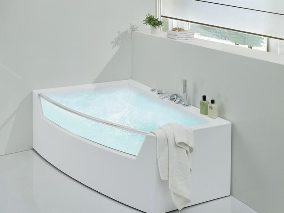 baignoire balneo asymetrique 150